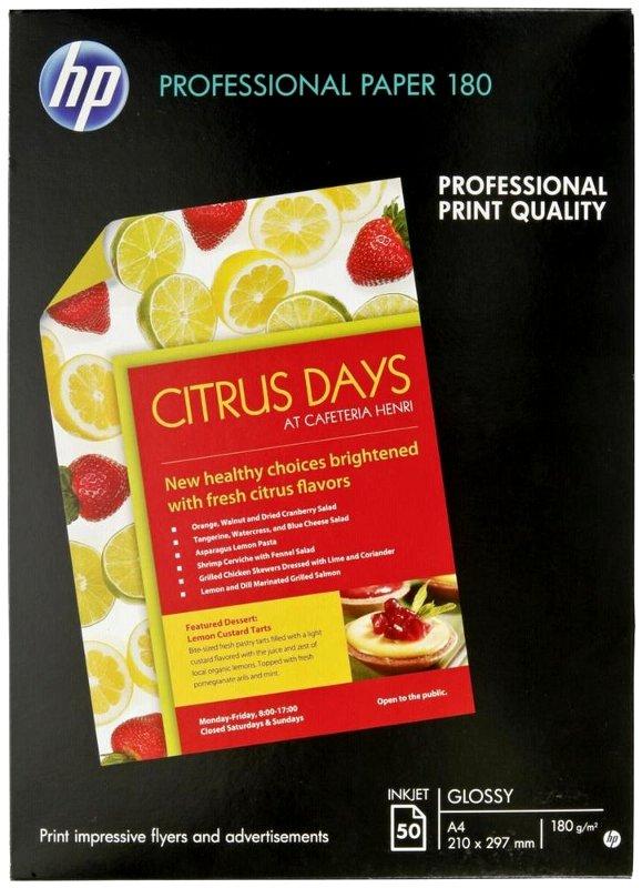 Descriere Hartie foto, A4, 180 g/mp, 50 coli/top, lucios, HP Professional Inkjet