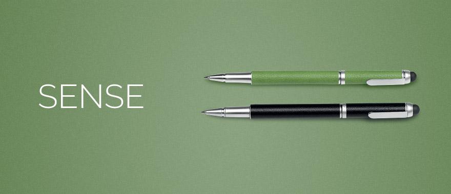 Descriere Creion mecanic, din imitatie de piele, verde, FEDON Sense