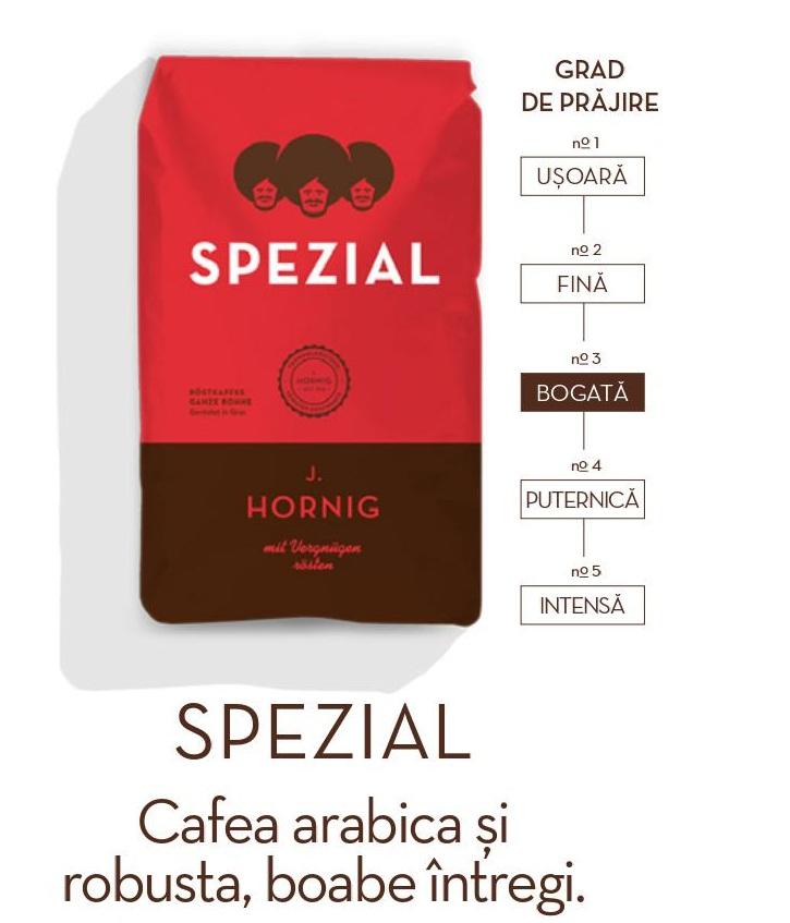 Descriere Cafea boabe, 500gr, J. HORNIG Spezial