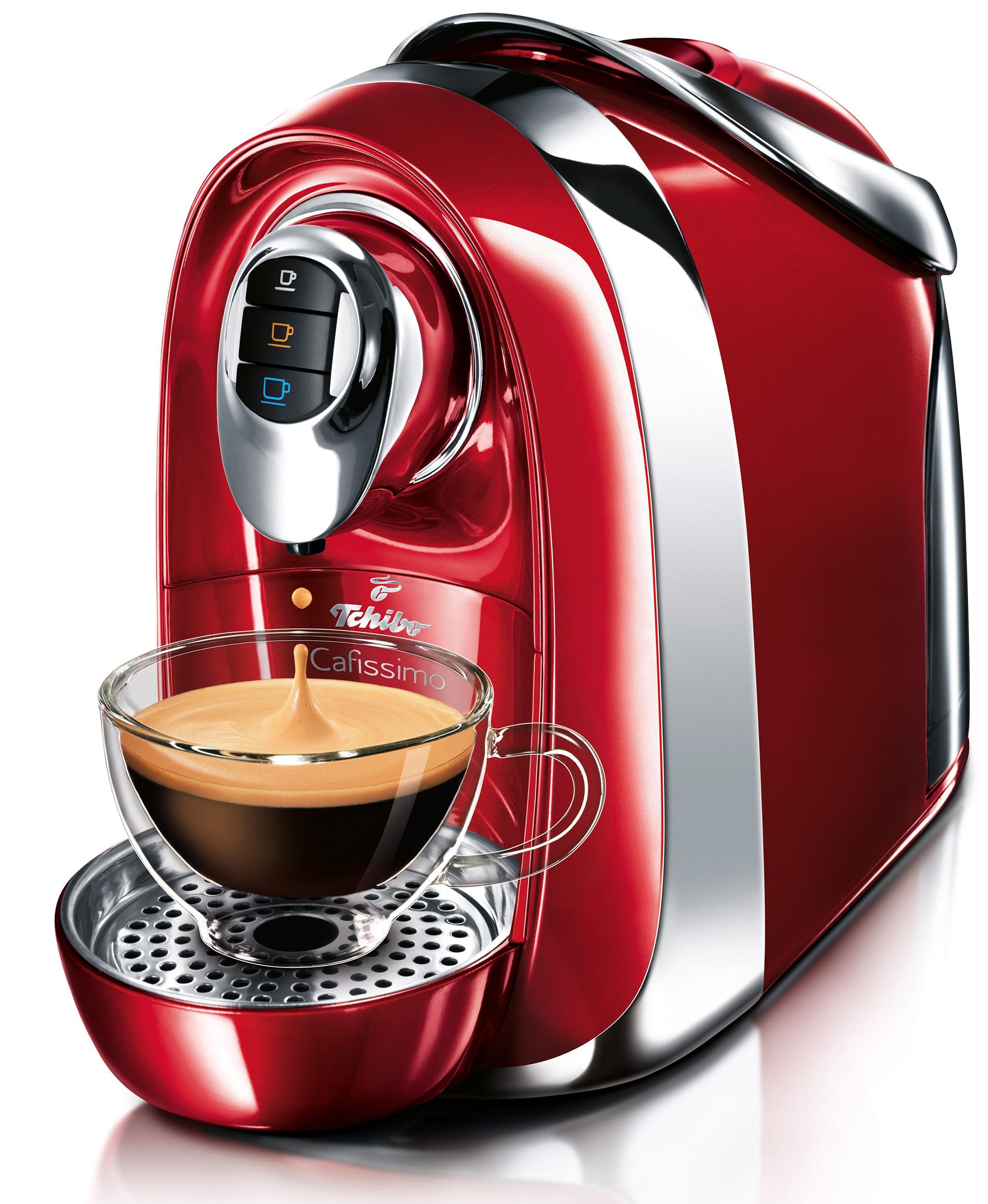 Descriere Aparat de cafea, 1.1L, rosu, 15 bar, Espressor TCHIBO Cafissimo Compact