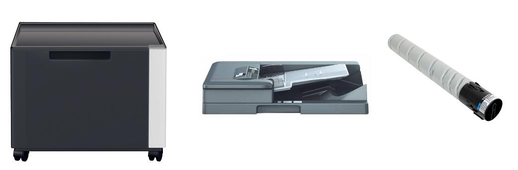 Descriere Multifunctional monocrom, A3/A4, KONICA MINOLTA BizHub 227 + DF-628 + DK-513 + Toner