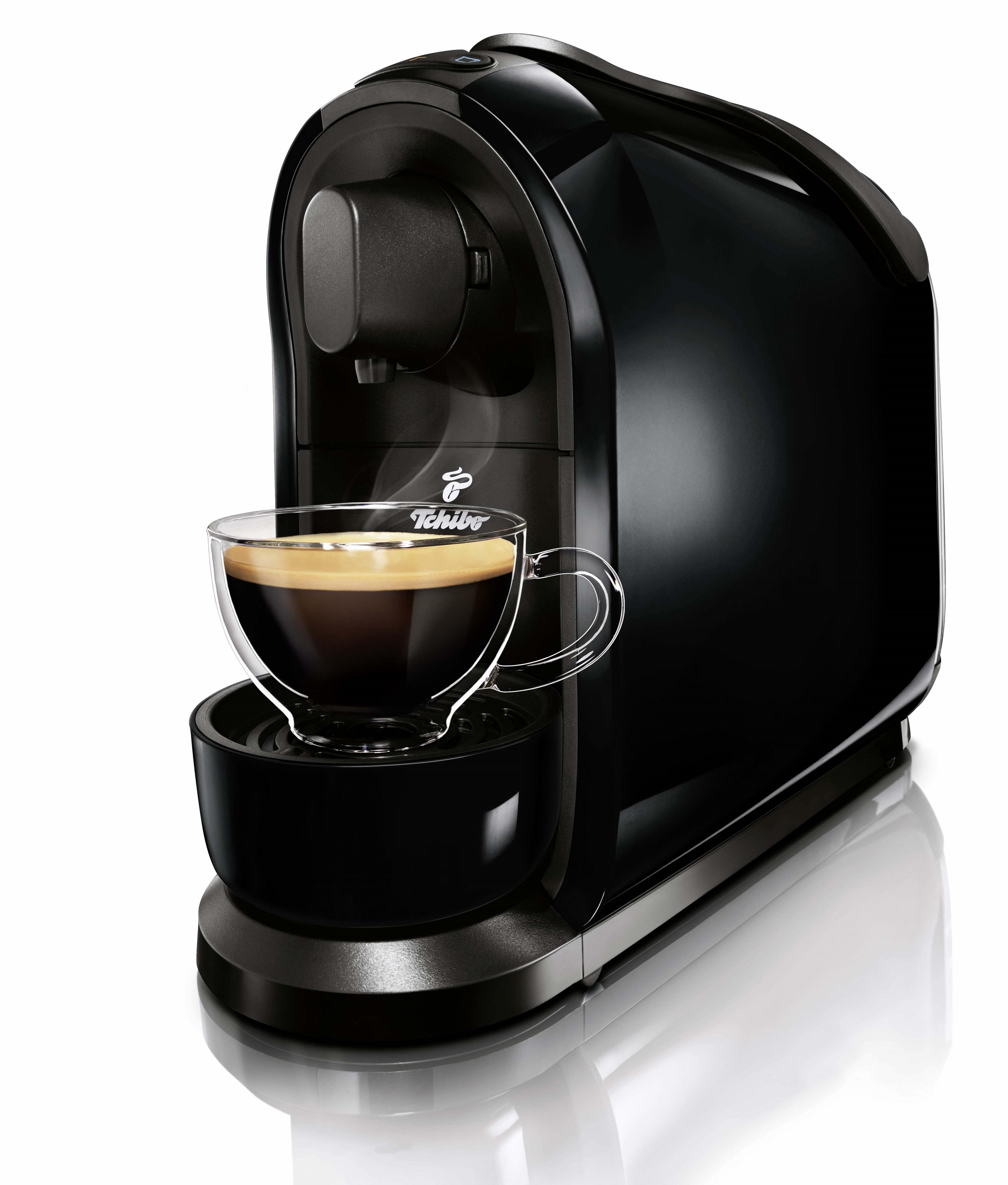 Descriere Aparat de cafea, 3 presiuni, 1L, negru, TCHIBO Cafissimo PURE