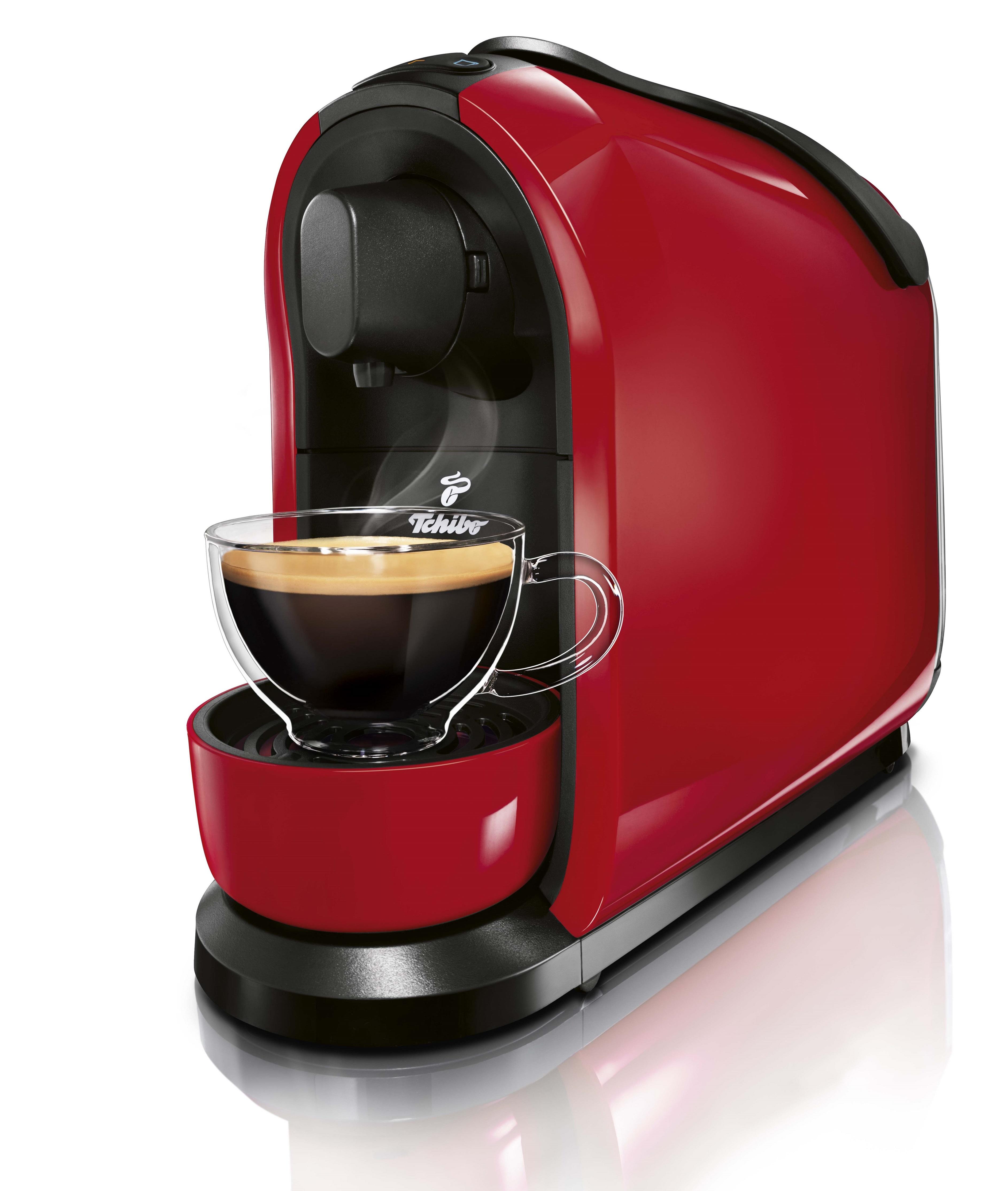 Descriere Aparat de cafea, 3 presiuni, 1L, rosu, TCHIBO Cafissimo PURE