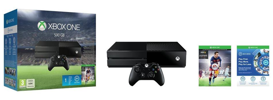 Descriere Consola Xbox One fara Kinect + joc FIFA 16 (cod download)