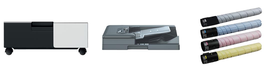 Descriere Multifunctional laser color, A3, USB, Retea, KONICA MINOLTA BizHub C224e + DF-624 + DK-510 + Set Tonere
