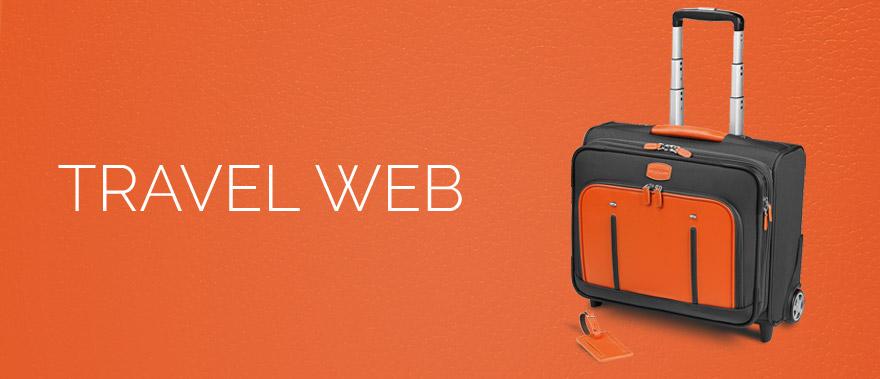 Descriere Troller, gri/portocaliu, din piele de bovina si nylon, FEDON Travel Web BS-Trolley