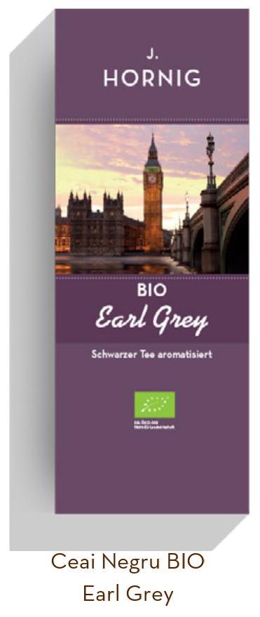 Descriere Ceai Earl Grey BIO, 25 plicuri triunghiulare, J. HORNIG