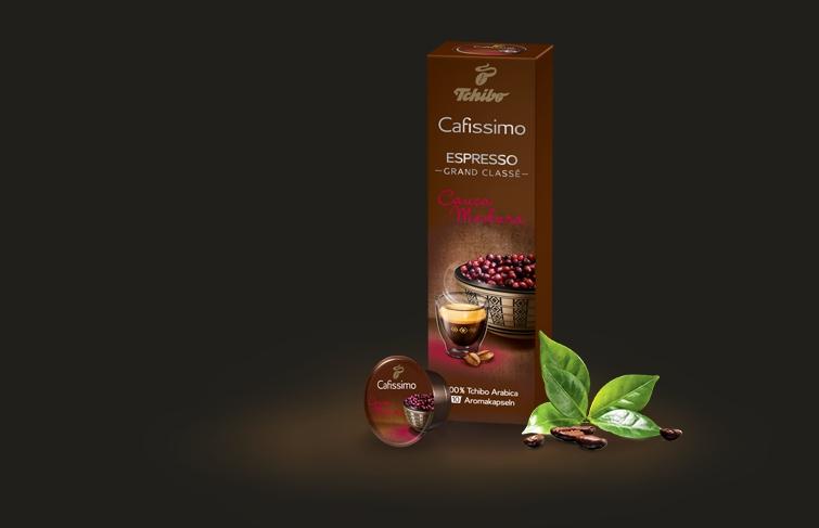 Descriere Capsule cafea, 10 capsule/cutie, Espresso, TCHIBO Cafissimo Cauca Madura
